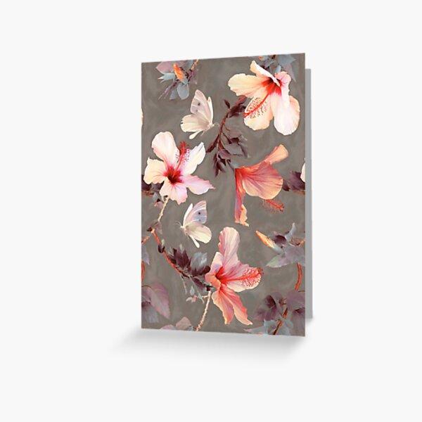 Coral Hibiscus Greeting Card