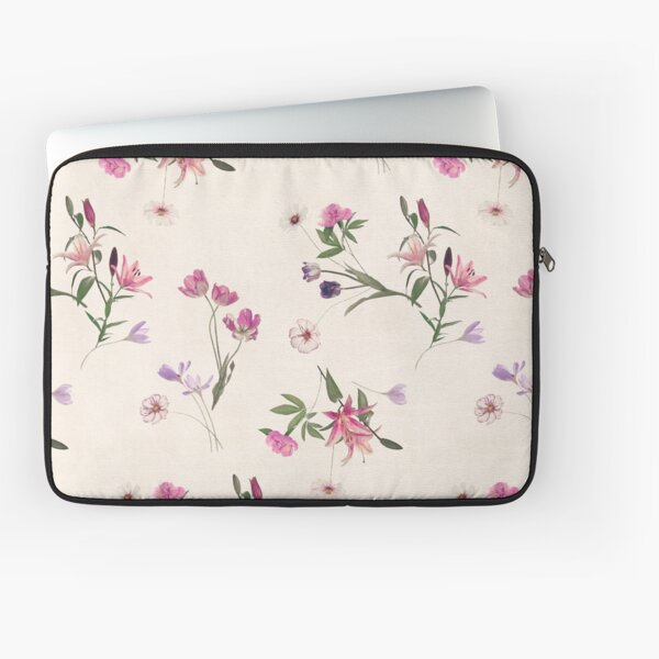 Scattered Floral on Cream Laptop Sleeve