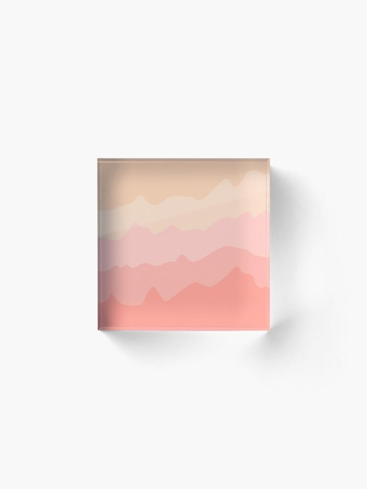 Alternate view of Pastel Tides Acrylic Block