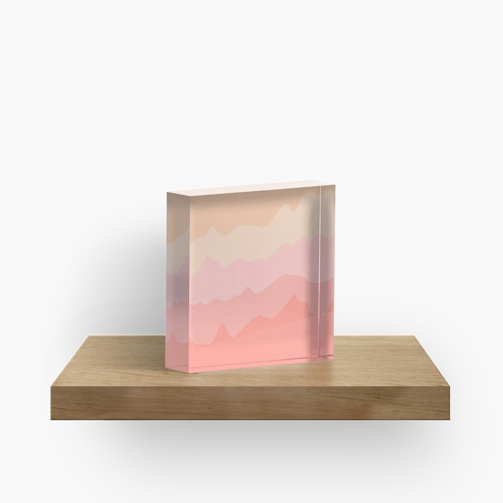Pastel Tides Acrylic Block
