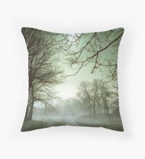Fog on the Green Throw Pillow
