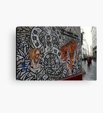 Paris, rue des Rosiers. Canvas Print