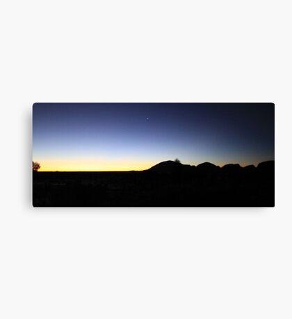 Venus rising over Kata Tjuta Canvas Print
