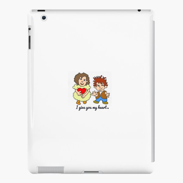 I give you my heart (with text) by Laila Cichos iPad Snap Case