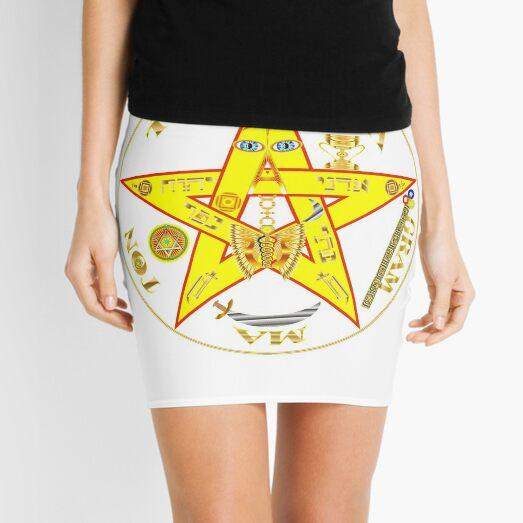 #Kundalini #Pentagrams, #KundaliniPentagrams, #Sign, Symbol, Shape, Design, Illustration, Abstract Mini Skirt
