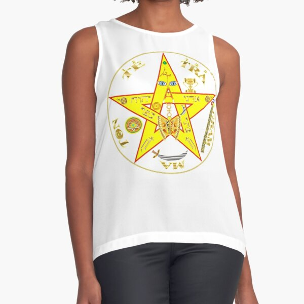 #Kundalini #Pentagrams, #KundaliniPentagrams, #Sign, Symbol, Shape, Design, Illustration, Abstract Sleeveless Top