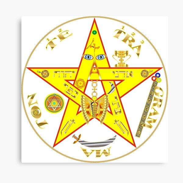 #Kundalini #Pentagrams, #KundaliniPentagrams, #Sign, Symbol, Shape, Design, Illustration, Abstract Canvas Print
