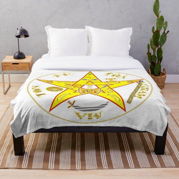 #Kundalini #Pentagrams, #KundaliniPentagrams, #Sign, Symbol, Shape, Design, Illustration, Abstract Throw Blanket