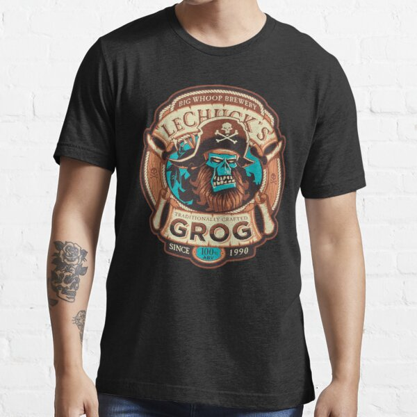 Ghost Pirate Grog - Monkey Island Craft Beer - Video Game Essential T-Shirt
