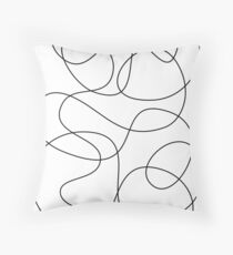Continuous Line Abstract Art Floor Pillow