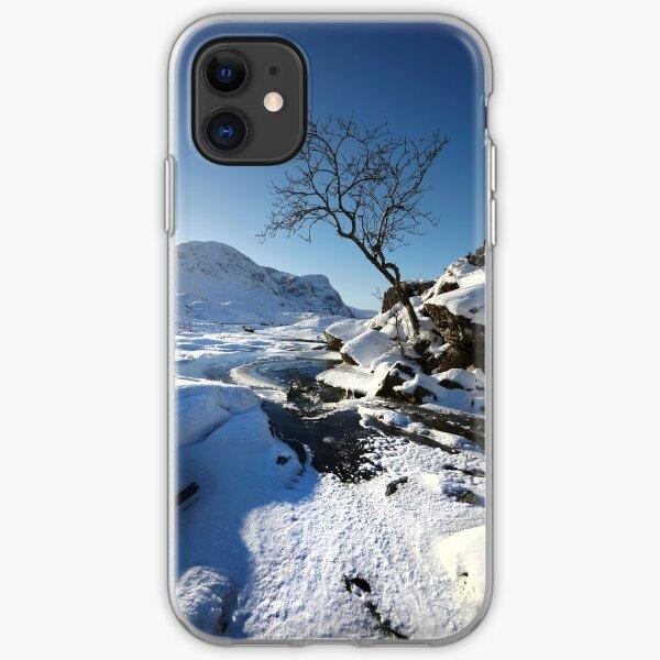 Glencoe in winter, Scottish Highlands. iPhone Soft Case