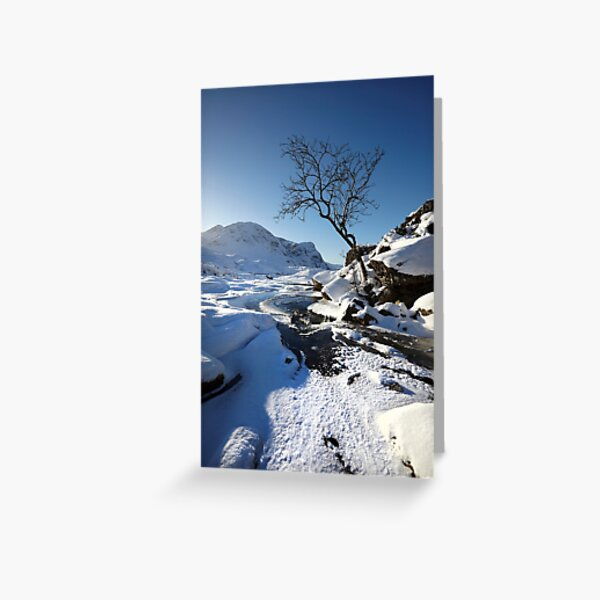 Glencoe in winter, Scottish Highlands. Greeting Card