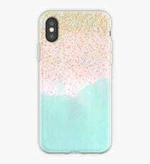 Abstrakte und goldene Konfettiauslegung des Aquarells iPhone-Hülle & Cover