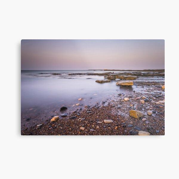 Amble Links Beach Receding Tide Northumberland Metal Print