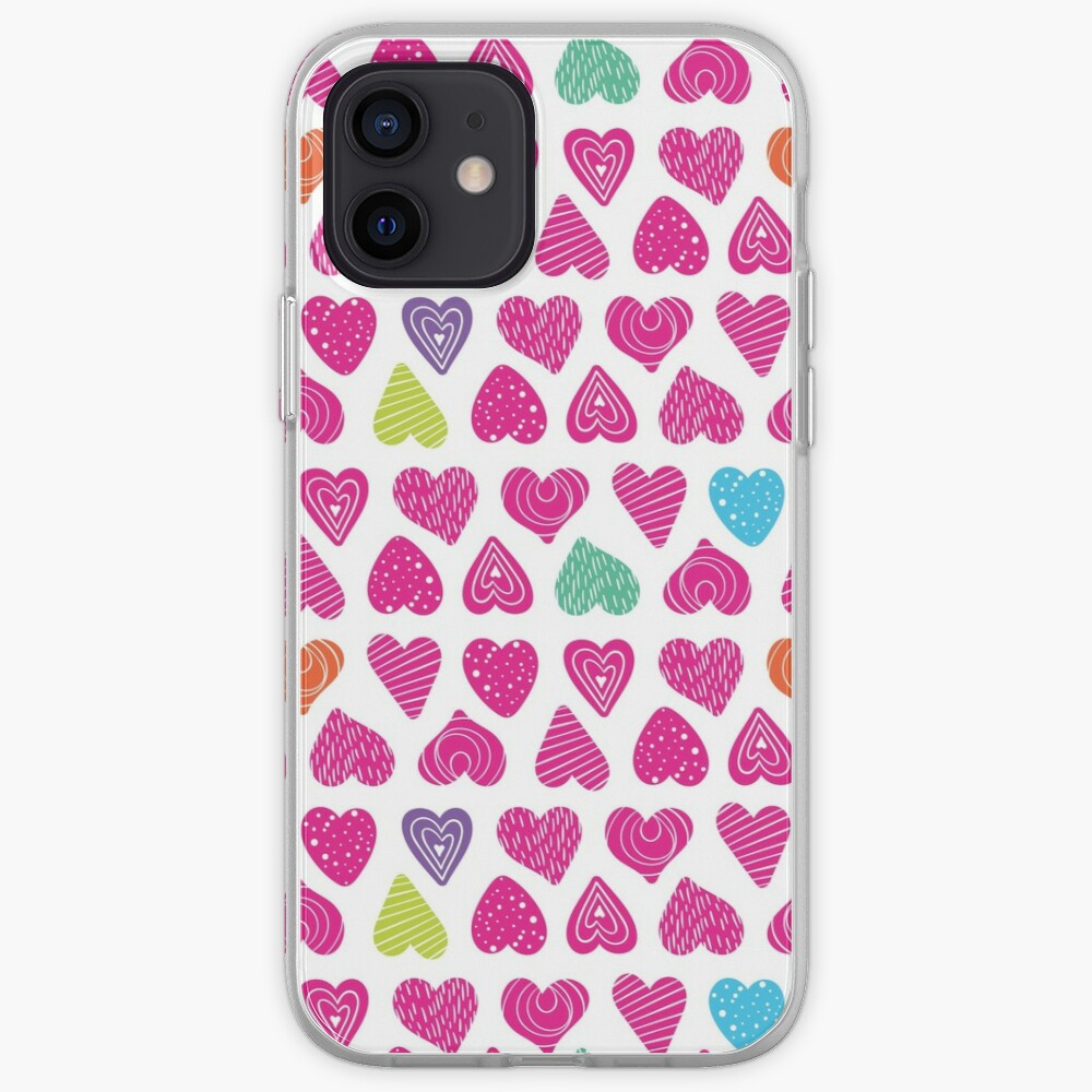 Heart full of hope pattern iPhone Case & Cover