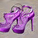 Purple Shoes by WildestArt