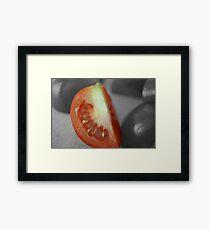 Tomato Wedge Framed Print