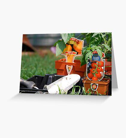 Vegetable Planting Time Greeting Card