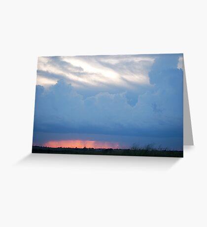 Stormy Kansas Sunset Sky  Greeting Card