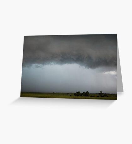 Stormy Kansas Sky with Cows Greeting Card