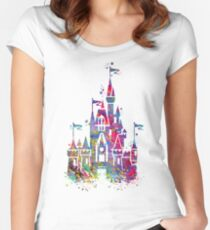 Princess Castle  Women's Fitted Scoop T-Shirt