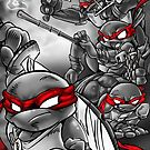 TMNT Kung Fu Masters by jdubeart
