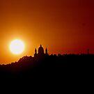 Sunrise over the Basilica of Superga by Stefano  De Rosa