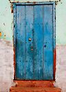 Weather beaten blue door, Trinidad, Cuba by David Carton