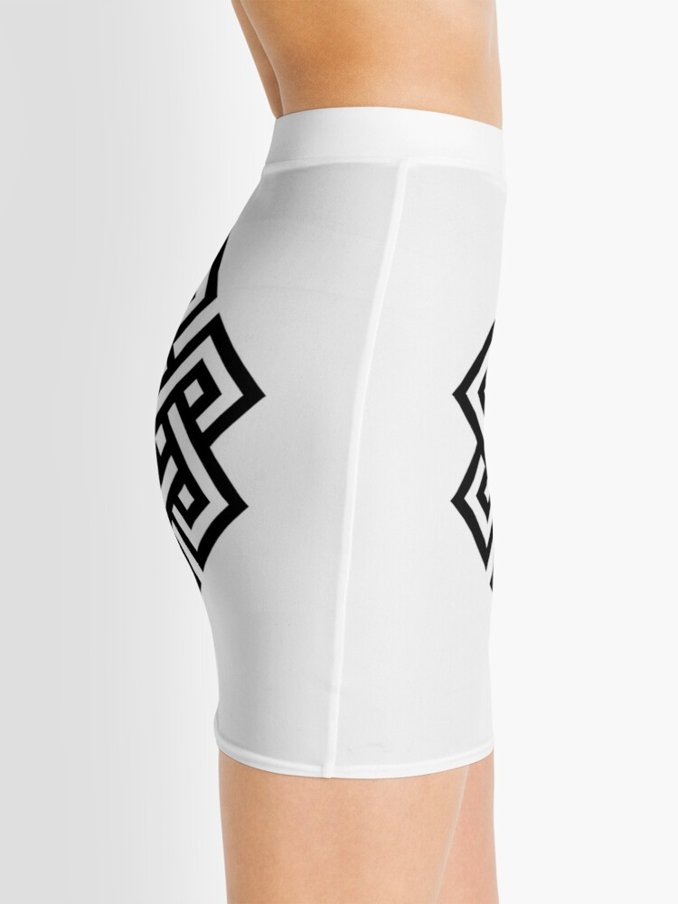 Alternate view of #Endless #Knot #Eternity #Buddhism Overhand Knot Mini Skirt
