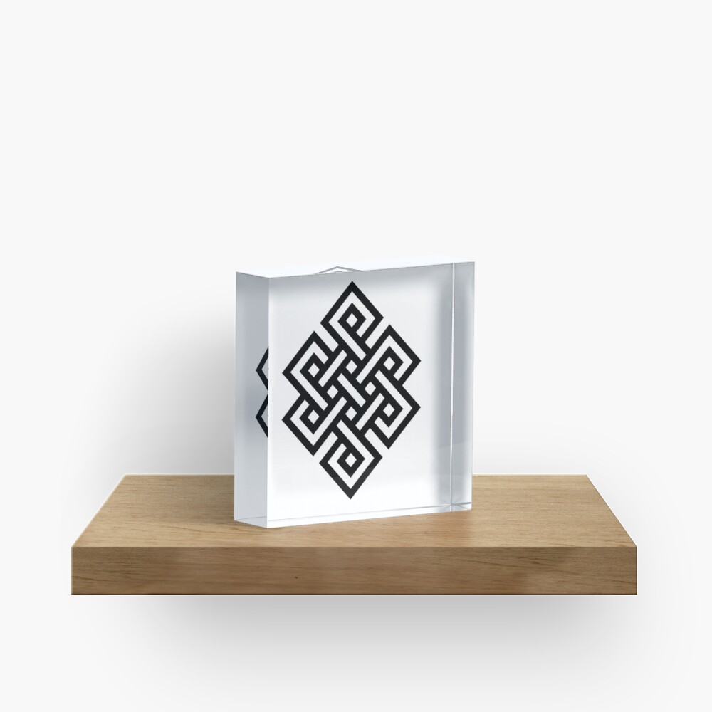 #Endless #Knot #Eternity #Buddhism Overhand Knot Acrylic Block