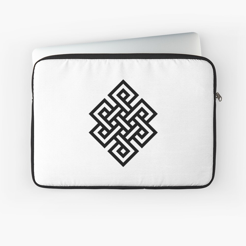 #Endless #Knot #Eternity #Buddhism Overhand Knot Laptop Sleeve