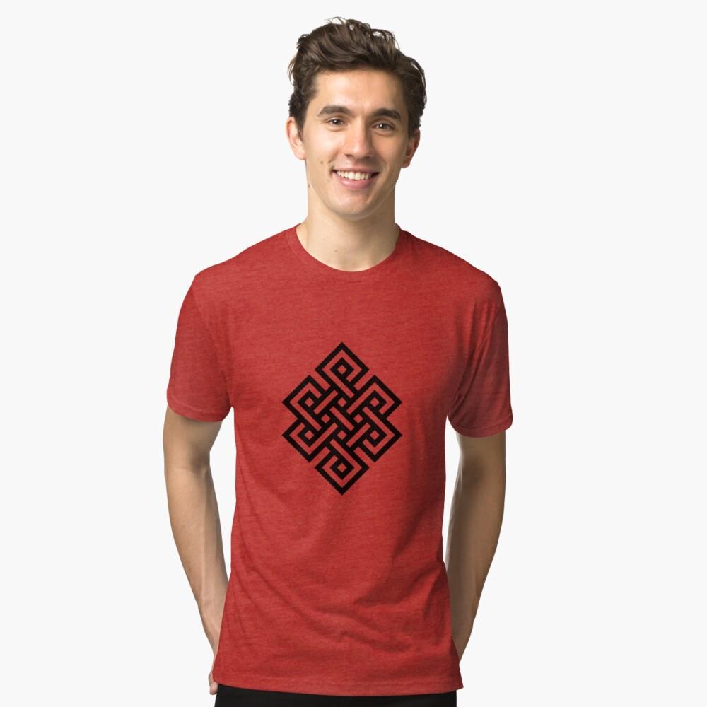 #Endless #Knot #Eternity #Buddhism Overhand Knot Tri-blend T-Shirt