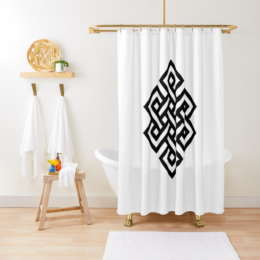 #Endless #Knot #Eternity #Buddhism Overhand Knot Shower Curtain