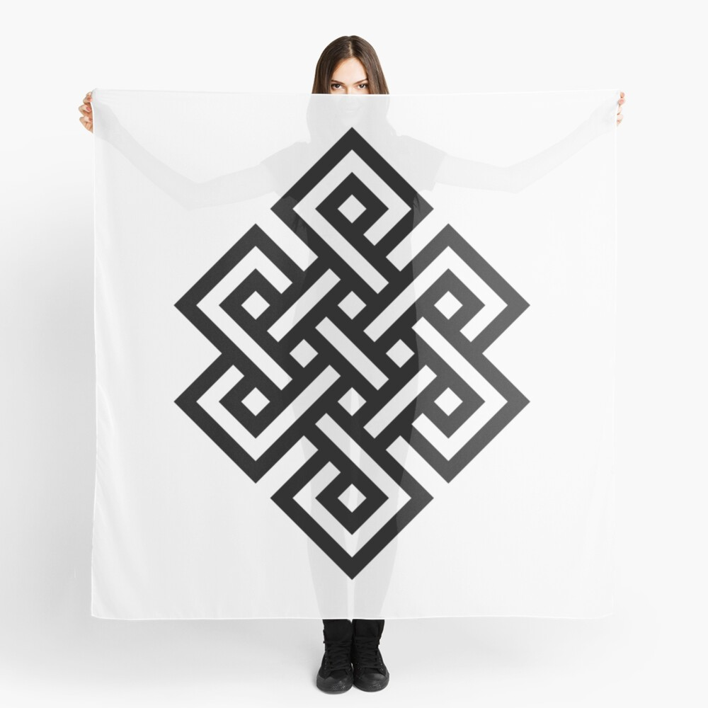 #Endless #Knot #Eternity #Buddhism Overhand Knot Scarf