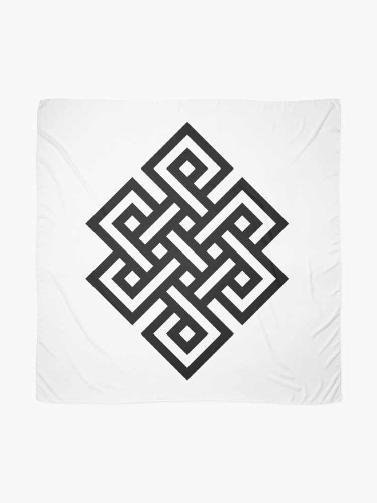 Alternate view of #Endless #Knot #Eternity #Buddhism Overhand Knot Scarf