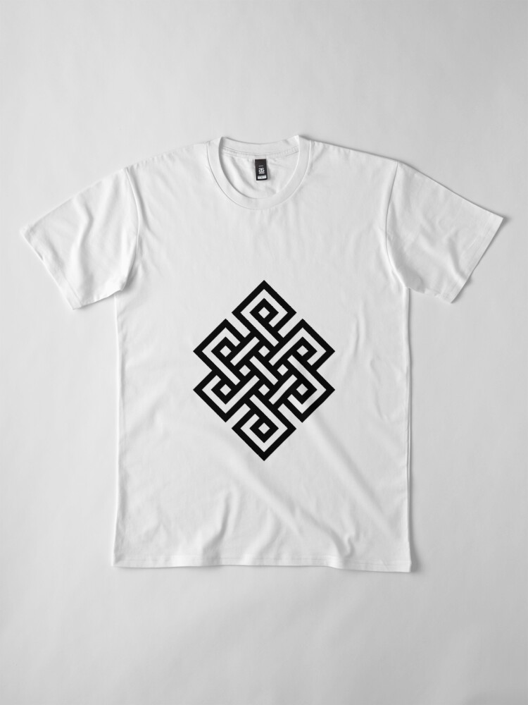 Alternate view of #Endless #Knot #Eternity #Buddhism Overhand Knot Premium T-Shirt