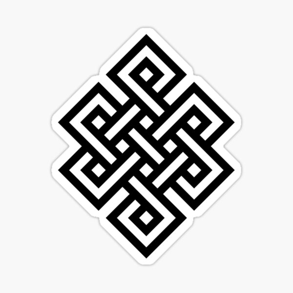 #Endless #Knot #Eternity #Buddhism Overhand Knot Sticker