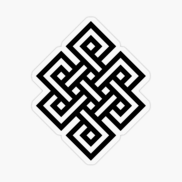#Endless #Knot #Eternity #Buddhism Overhand Knot Transparent Sticker