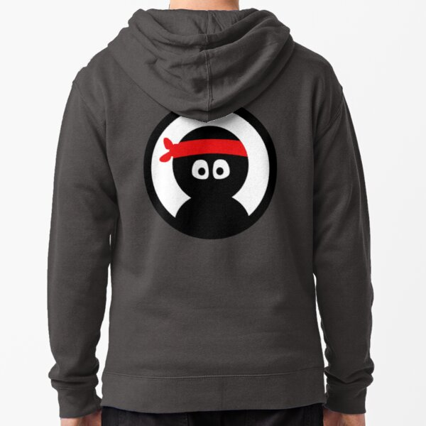 norman the ninja (classic) Zipped Hoodie