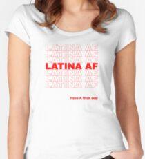 Latina AF-Shirt, Latina-Shirts, Brünette Shirt, Womens rechtes Shirt Tailliertes Rundhals-Shirt