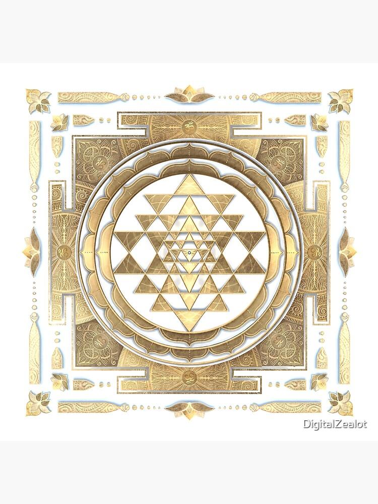 GOLDEN SRI YANTRA (white background) by DigitalZealot