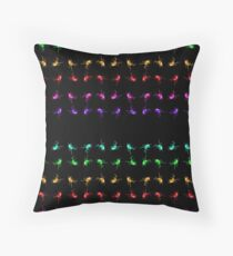 Spider fly lines Throw Pillow