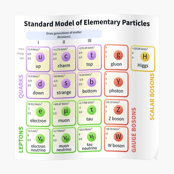 #Standard #Model Of #Elementary #Particles Poster