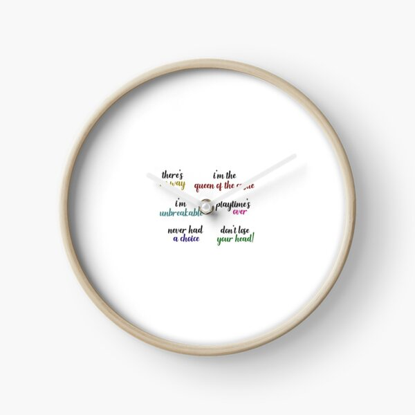 Six the Musical Quotes Clock