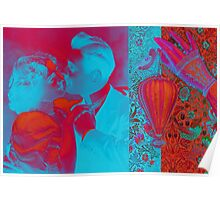 Happy Couple Abstract Hard Journal Cover Poster