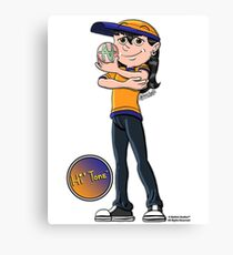 Hi' Tone holding the NatAnt Studios' NA Colophon Canvas Print