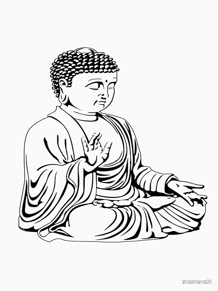 #ClipArt #DigitalArt #Illustration #Drawing Drawing Buddha peaceful transparent clip by znamenski