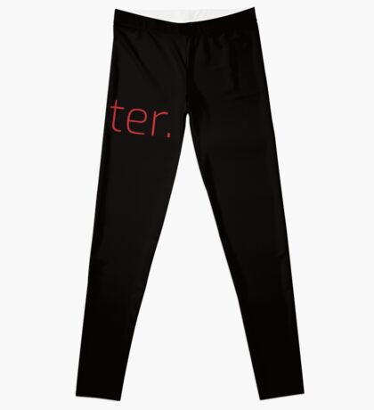 Copy of Writer. (Thin Red Text) Leggings