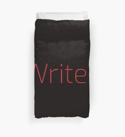 Copy of Writer. (Thin Red Text) Duvet Cover