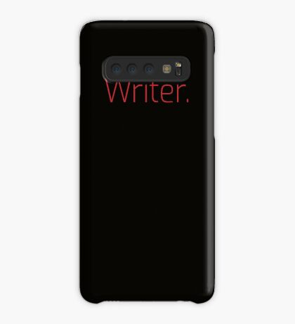Copy of Writer. (Thin Red Text) Case/Skin for Samsung Galaxy